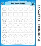 preschool worksheet for kids.... | Shutterstock .eps vector #516399739