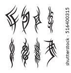 symbolic  tattoo tribal... | Shutterstock .eps vector #516400315