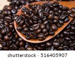 roasted coffee beans | Shutterstock . vector #516405907