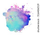 Abstract isolated colorful vector watercolor stain. Grunge element for paper design | Shutterstock vector #516406519