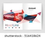 business triangle design modern ... | Shutterstock .eps vector #516418624