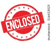 enclosed stamp sign text word...