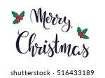 isolated christmas hand...   Shutterstock .eps vector #516433189