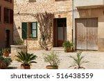 charming mediterranean street... | Shutterstock . vector #516438559