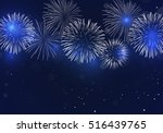 brightly colorful fireworks on... | Shutterstock .eps vector #516439765