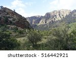 view of chisos mountains from... | Shutterstock . vector #516442921