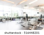 abstract blur gym and fitness... | Shutterstock . vector #516448201
