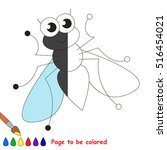 Cute Fly To Be Colored  To...