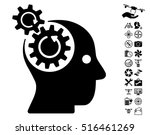 brain gears rotation pictograph ... | Shutterstock .eps vector #516461269