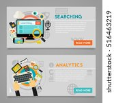 searching analytics concept | Shutterstock .eps vector #516463219