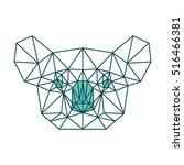 koala polygonal geometric logo... | Shutterstock .eps vector #516466381