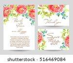 vintage delicate invitation... | Shutterstock .eps vector #516469084