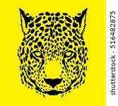 Cheetah Head Graphic Vector.
