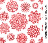 winter seamless pattern with... | Shutterstock .eps vector #516487021