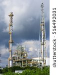 petrochemical plant  oil... | Shutterstock . vector #516492031