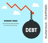 financial crisis  money... | Shutterstock .eps vector #516493681