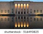 Small photo of Kansas Art Museum Reflection
