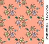 seamless vector hand drawn... | Shutterstock .eps vector #516499939