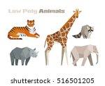 low poly animal vector... | Shutterstock .eps vector #516501205