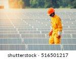 solar engineering employee man... | Shutterstock . vector #516501217