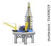 industrial platform isolated on ... | Shutterstock . vector #516508219