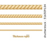 different nautical twine brown... | Shutterstock .eps vector #516509134