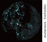 world map point  line ... | Shutterstock .eps vector #516510301