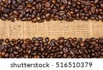roasted coffee beans stripes | Shutterstock . vector #516510379