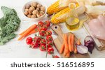 healthy eating concept. fruits  ... | Shutterstock . vector #516516895