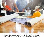 architect concept  architects... | Shutterstock . vector #516529525