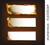 burning blank paper sheets set... | Shutterstock .eps vector #516530269