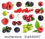 fruits. collection of berries... | Shutterstock . vector #516530557