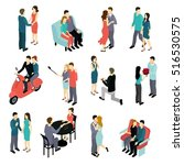 loving couples isometric set...   Shutterstock .eps vector #516530575