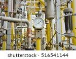 pressure gauge in oil and gas...   Shutterstock . vector #516541144