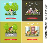 vector set of places where you... | Shutterstock .eps vector #516545959