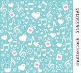 happy st. valentine's day  blue ... | Shutterstock .eps vector #516550165