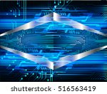 blue abstract vector hi speed... | Shutterstock .eps vector #516563419