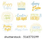 easter wishes overlays ... | Shutterstock . vector #516573199