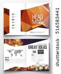 business templates for brochure ... | Shutterstock .eps vector #516583441