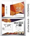 business templates for brochure ... | Shutterstock .eps vector #516583441