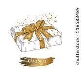 vector image of the gift box.... | Shutterstock .eps vector #516583489