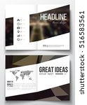 set of business templates for... | Shutterstock .eps vector #516583561