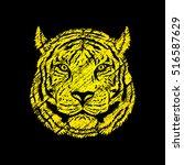 tiger head designed using... | Shutterstock .eps vector #516587629