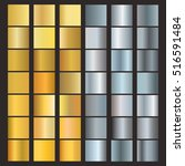 set of silver and gold... | Shutterstock .eps vector #516591484
