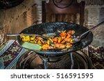 national cuisine. baku menu.... | Shutterstock . vector #516591595