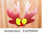 christmas reindeer antlers... | Shutterstock . vector #516596044