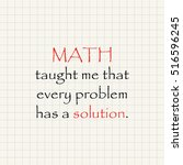math and solution   funny... | Shutterstock .eps vector #516596245