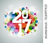 vector happy new year... | Shutterstock .eps vector #516597415