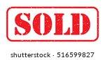 Red Sold Stamp Logo