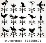 Different Iron Weather Vanes....